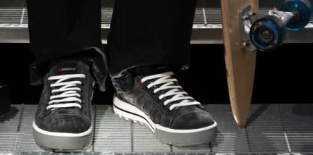 Chaussures de sécurité ressemblant à des chaussures de skate.