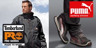 Vêtements de travail Timberland Pro Series et chaussures de sécurité Puma Safety Shoes