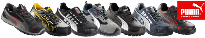 Modèles de chaussures de sécurité Puma : puma motorsport S1P, puma Running S1P, Scuff Caps S3