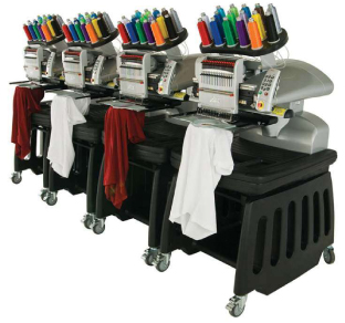 Machines et fils pour broder les vêtements de travail