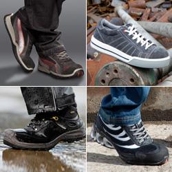 Différents modèles de chaussures de sécurité