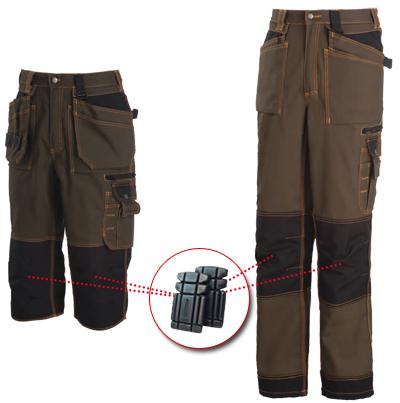 Genouillères intégrables aux pantalons de travail