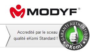Les avis MODYF sont accrédités par les sceau Ekomi