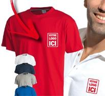 Tee-shirts et polos marqués avec un logo