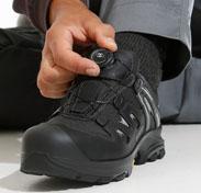 Baskets de sécurité sans lacets avec la technologie Boa