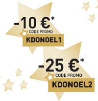 Code avantage MODYF KDONOEL1 et KDONOEL2 de 10 à 25€ de remises
