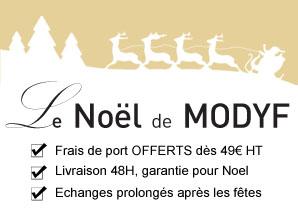 Livraison gratuite et garantie prolongée après les fêtes sur MODYF.fr