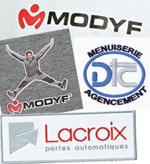 Exemples de personnalisation de vêtements de travail