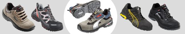 Plusieurs modèles de chaussures de sécurité coquées