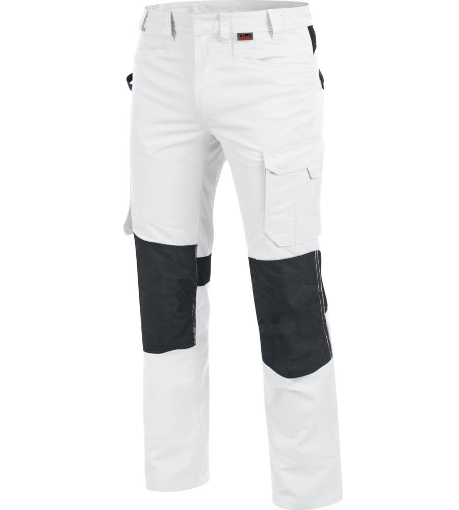 Pantalon de travail blanc pour plâtrier et maçon