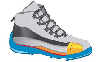 Chaussures de sécurité Coque de protection Composite Aluminium