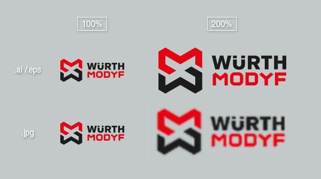 agrandissement logo