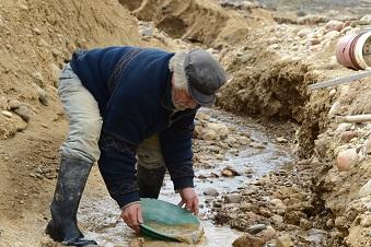 Mineur en jean de travail avec rivet en cuir