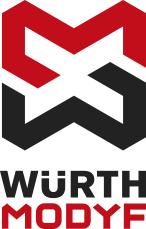 Le nouveau logo Würth MODYF représentant l'alliance de Würth avec MODYF