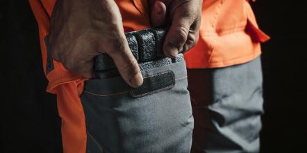 Genouillères de protection pour pantalon de signalisation