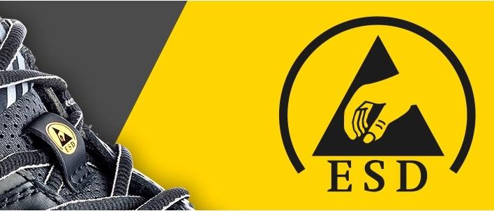 Chaussures normées ESD contre les charges électrostatiques