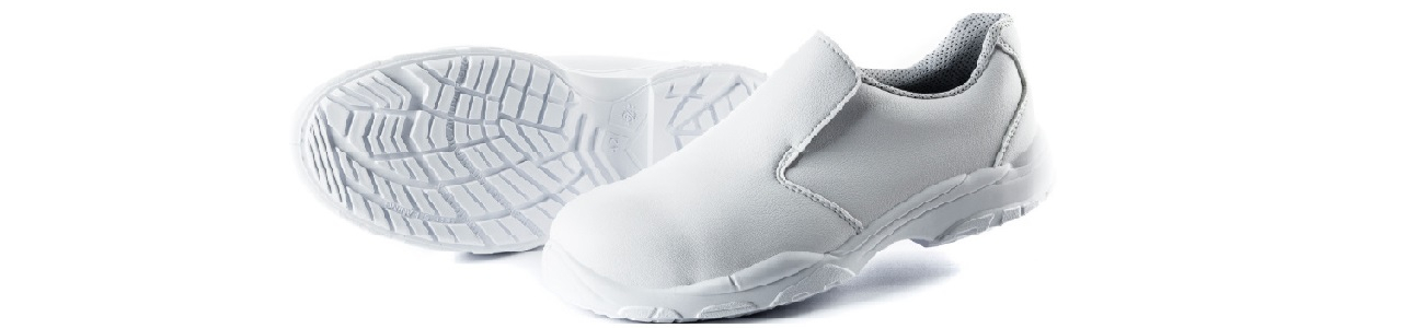 Chaussures de sécurité blanches pour personnel hospitalier