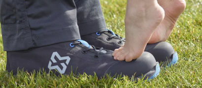 Chaussures de sécurité recyclées