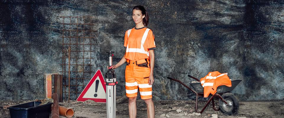 Vetement de travail femme haute visibilite