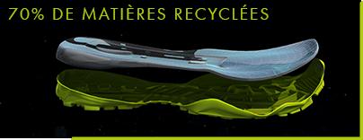 70% de matières recyclées