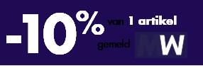 -10% van 1 artikel gemeld MW
