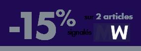 -15% sur 2 articles signalés MW