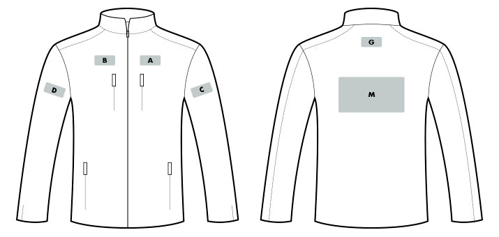 Marquage parka, veste et softshell de travail