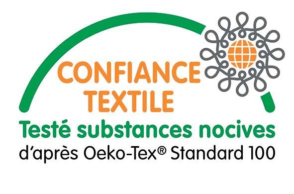 Testé substances nocives d'après Oeko-Tex Standard 100