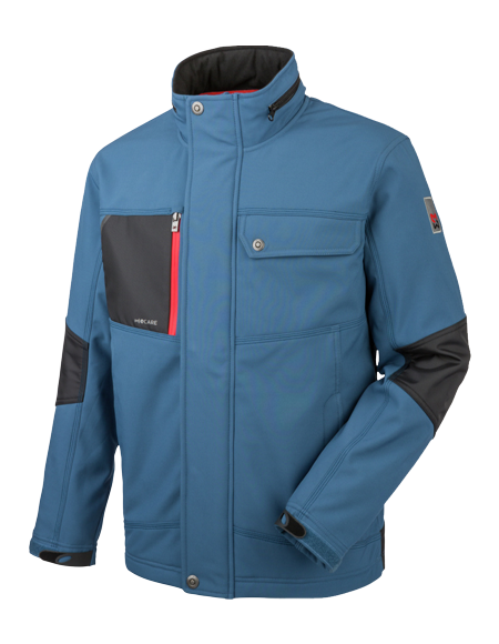 Winddichte Nature Softshelljacke in Schieferblau
