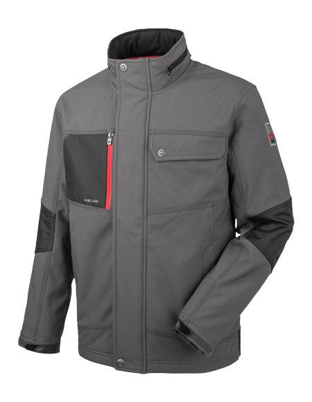 Robuste Nature Softshelljacke in Granitgrau