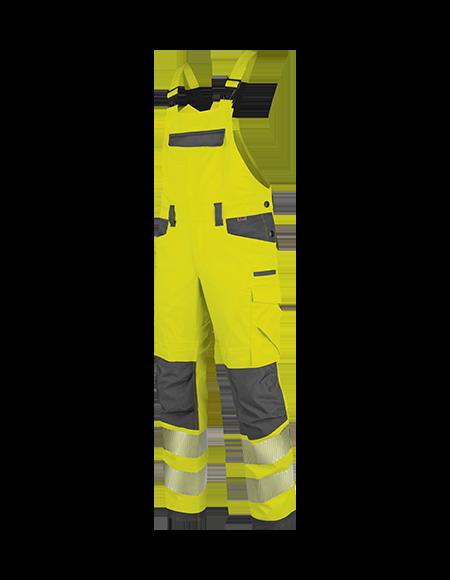 Warnschutz Latzhose in Gelb