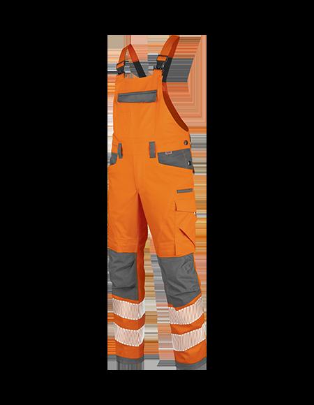 Warnschutz Latzhose in Orange