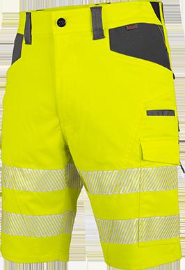 Warnschutz Arbeitsshorts NEON in Gelb