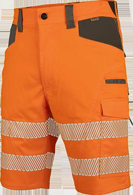Warnschutz Arbeitsshorts NEON in Orange