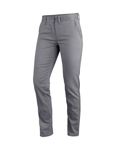 Pantalon Chino Femme Gris