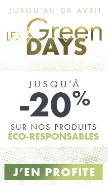 Green Days : jusqu'à -20% sur nos produits éco-responsables !