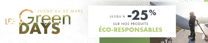 Green Days : jusqu'à -25% sur nos produits éco-responsables !