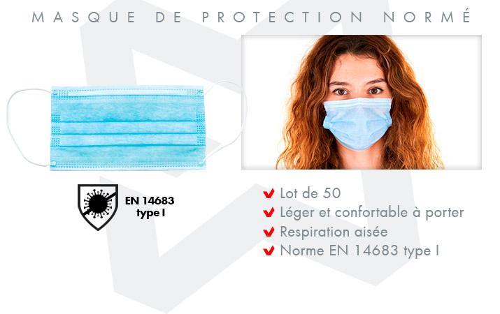 Masque barrière contre le COVID-19