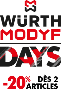 Würth MODYF DAYS : -20% dès 2 articles