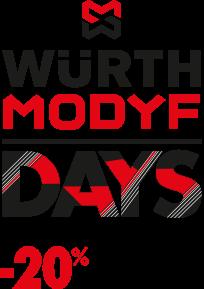 Würth MODYF DAYS : -20% vanaf 2 artikelen