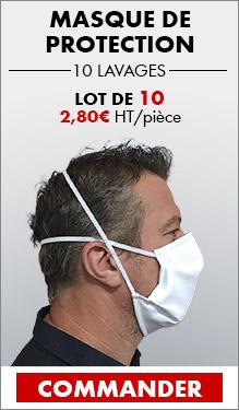 Lot de 10 masques barrières lavables