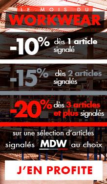 Mois du Workwear : jusqu'à -20% !