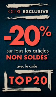 Offre exclu : -20% sur tous les produits non soldés