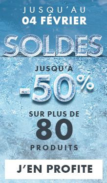 Soldes : jusqu'à -50% sur plus de 80 produits !
