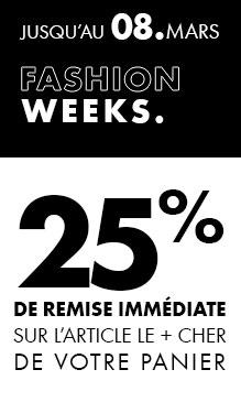 Würth MODYF Fashion Weeks : -25% sur l'article le plus cher de votre panier !