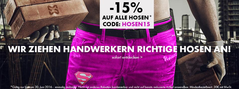 -15% auf alle Arbeitshosen