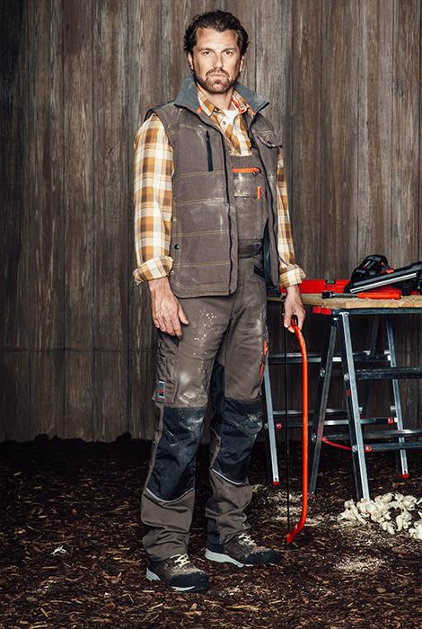 Arbeitskleidung Outfit Nature Line braun für Zimmerer Landwirte Dachdecker