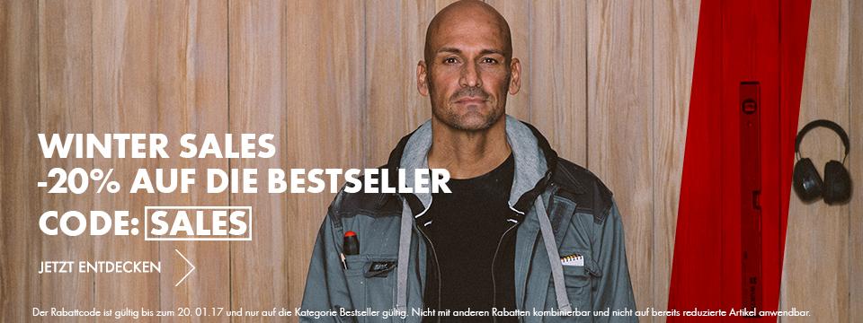 Winter Sales auf die Arbeitskleidung Bestseller
