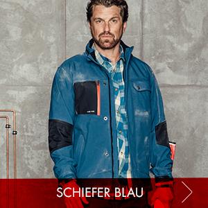 Stylische Arbeitskleidung Nature Kollektion in schieferblau