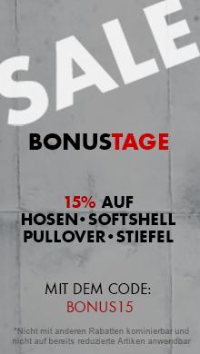 Bonustage: -15% sparen